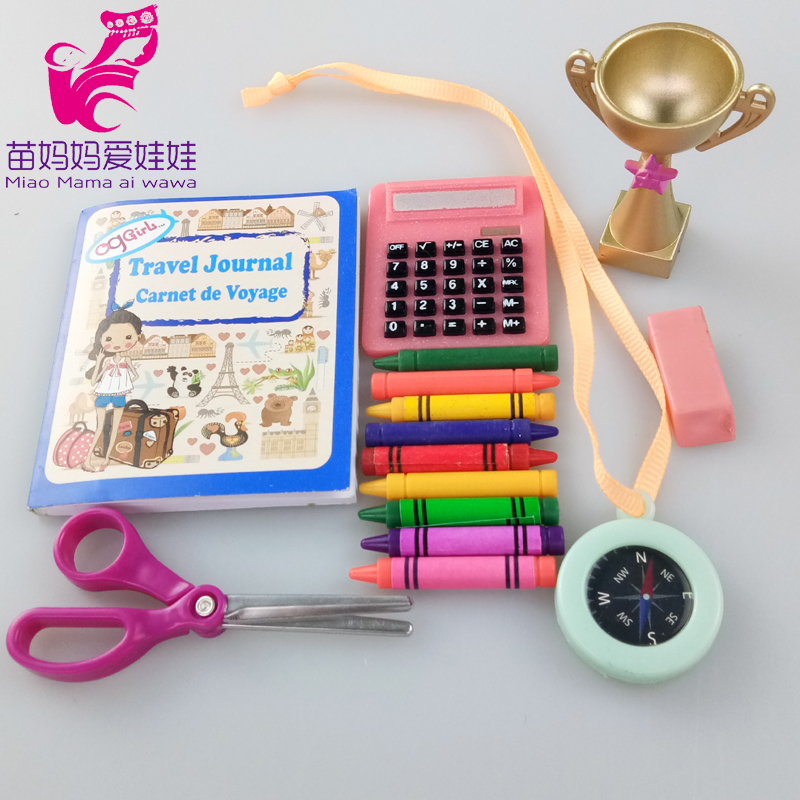 Baby Doll Accessories Study Set 18 Inch American Generation Doll Watch Camera Mp3 Girl Gift