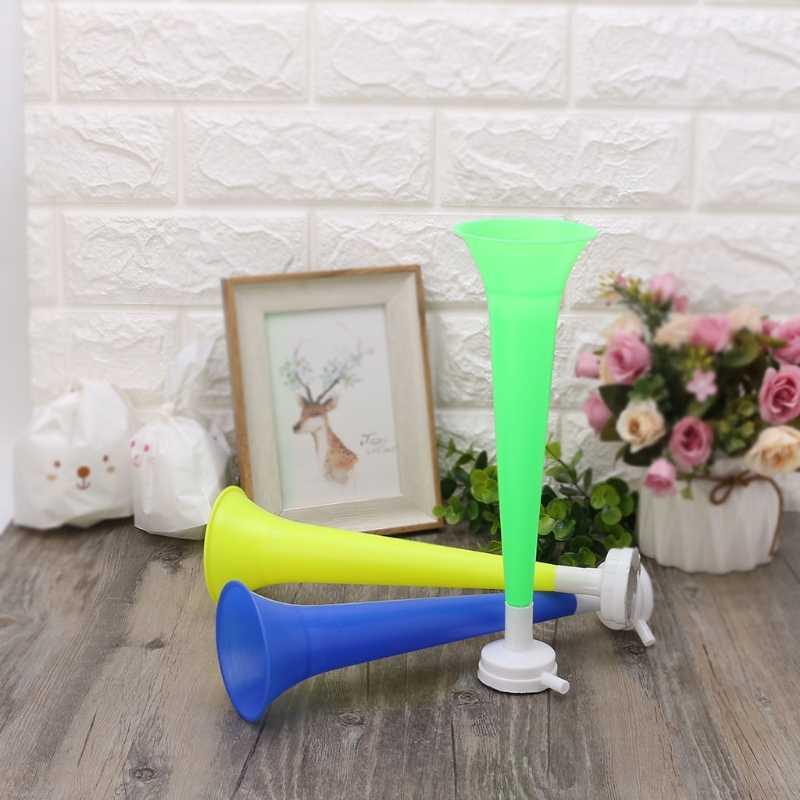 Alegría de plástico cuerno partido de Fútbol Fans de animadoras accesorios Vuvuzela chico trompeta