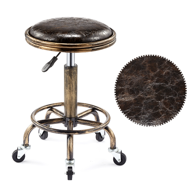 Beautifying stool lifting rotary hairdressing master stool anti-explosion corridor pulley round stool for hairdressing 2