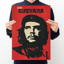 Room decoration celebrity Che Guevara retro kraft poster wall sticker bar bedroom decoration painting
