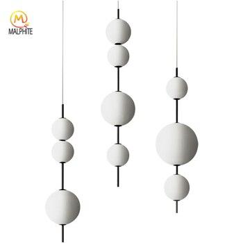 Moderne LED Anhänger Lampen Hängen Lampen Restaurant Kürbis Anhänger Lichter Cafe Bar Schlafzimmer Küche Esszimmer Glas Deco Leuchten