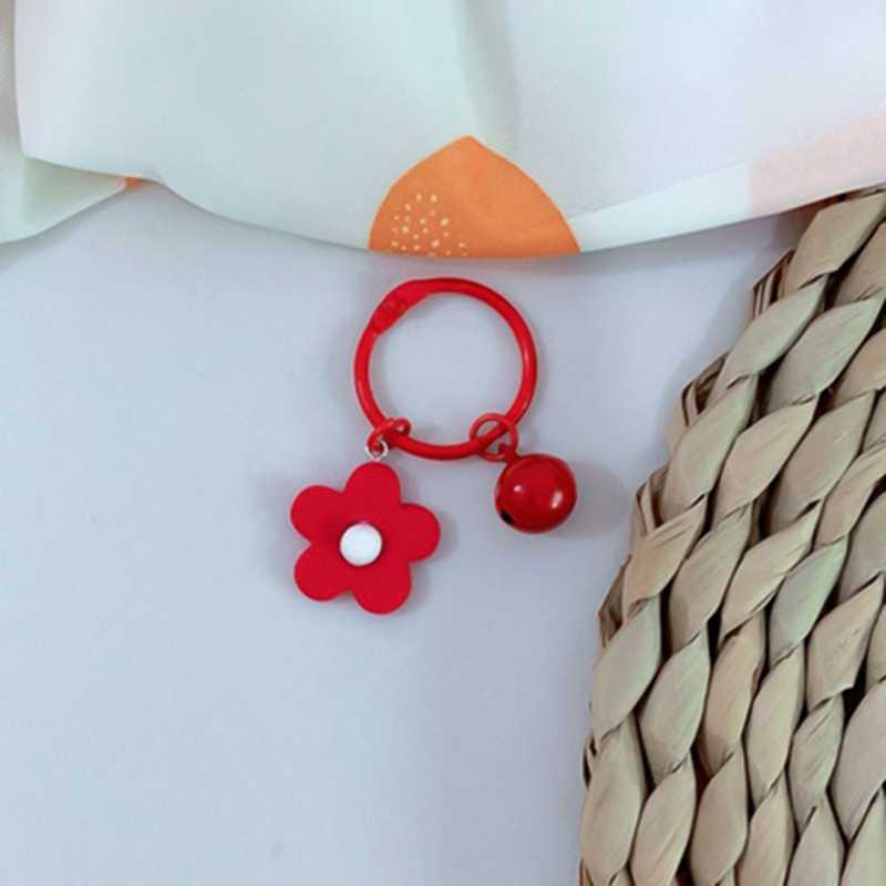 """1 шт. Мода милый маленький Макарон брелок """"Цветок"""" брелок для ключей кольцо для ключей из сплава для женщин и девушек, заменитель мужчины для автомобильных сумок, брелок в подарок ювелирные изделия"""