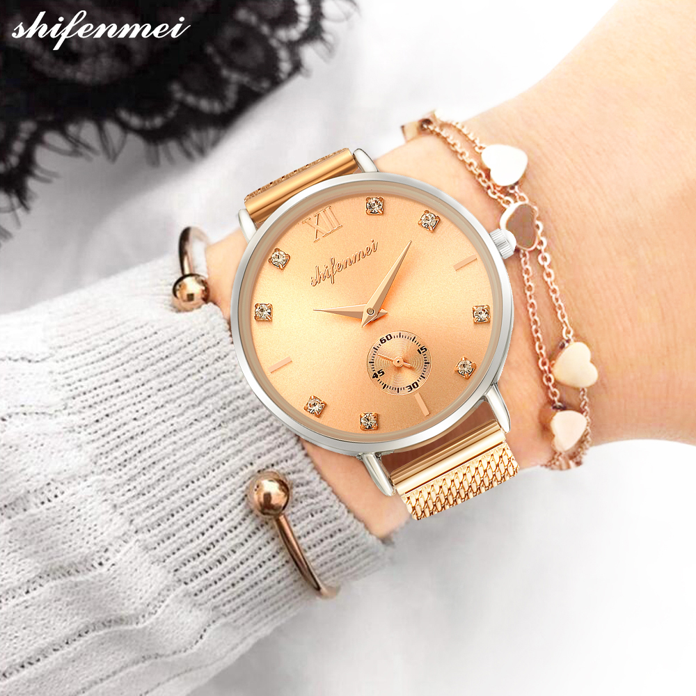 Shifenmei Women Watch 2019 Quartz Watches Top Luxury Brand Women Casual Wrist Watch Waterproof Ladies Watches Relogio Feminino