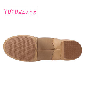 Image 5 - Toddler Professional Jazz Dance Shoes Kids Slip on Sneakers Geniune Leather Shoe for Girls Tan Black Shoes for Baby