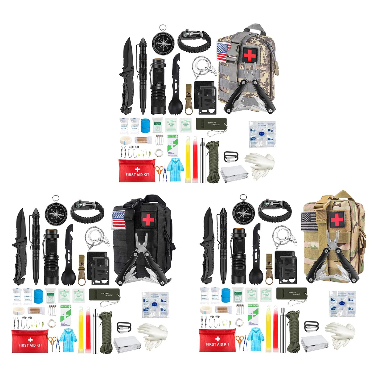 33 In 1 Emergency Survival Gear Kit Outdoor Hiking Tactical SOS Unisex Women Men Survival Gear