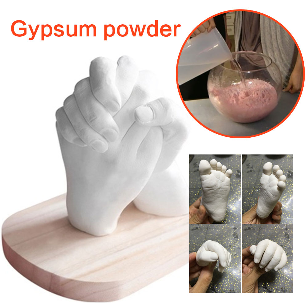 White Baby Mould Mother'S Day Gypsum Powder Souvenir Couple Cloning Powder Model Fashion DIY Hand Mold Hands Feet Gift