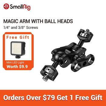 smallrig adjustable friction articulating magic arm with screw ball head and nato clamp ball head for director monitor support SmallRig Adjustable Friction Articulating Magic Arm with Double Ballheads (1/4and 3/8Screws) For DSLR Camera Cage -2212