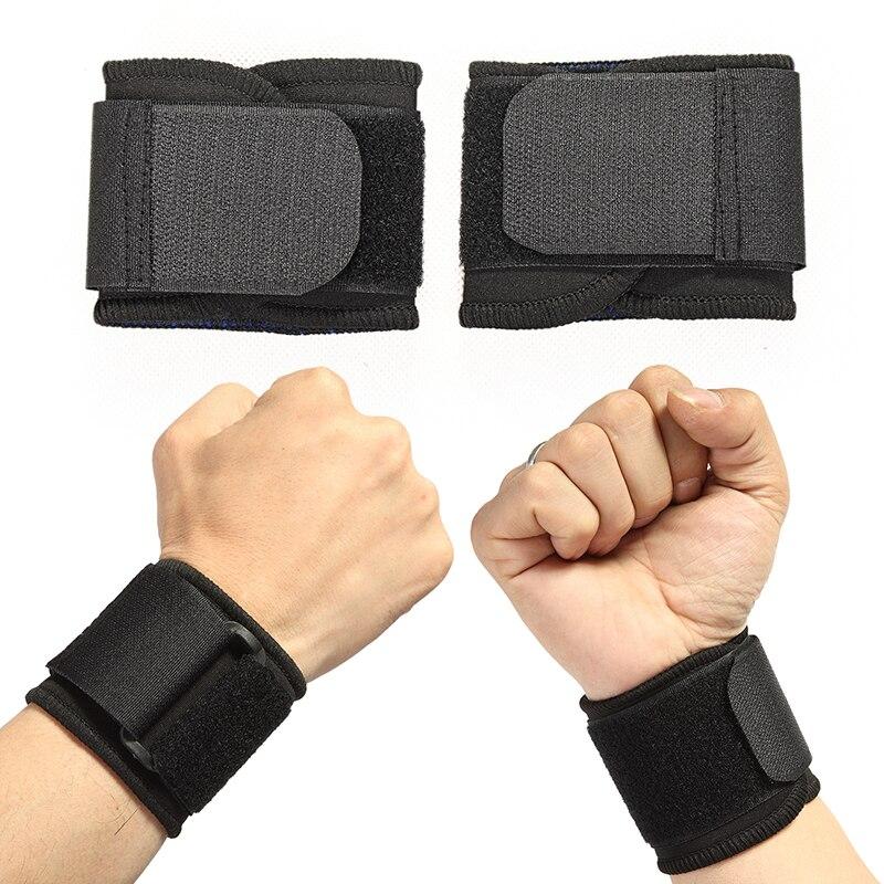 Регулируемые мягкие напульсники опора для запястий Bracers для спортзала Спорт Баскетбол защита для запястья дышащая оберточная лента ремень ...