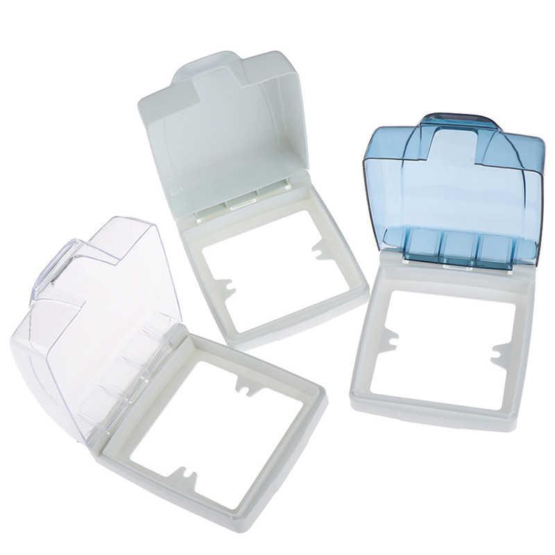 86 tipo Panel de luz hembra timbre tapa de cubierta clara de baño accesorio de cocina de pared de plástico interruptor resistente al agua cubierta de la Caja