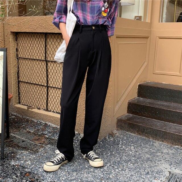 Elegant Formal High Waist Harem Straight Pants  3