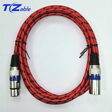 Kabel XLR 2M 3M 5M 3Pin XLR męski na żeński przedłużacz Audio Patch mikrofon do Karaoke kabel do wzmacniaczy miksera przewód XLR tanie tanio TZCable XLR (3-pin) Męski-żeński YS-231 CN (pochodzenie) XLR Audio Cable Pakiet 1 Woreczek foliowy Oplot Brak Multimedia