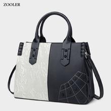 ZOOLER High-quality genuine leather bag womens shoulder Fashion messenger Cow handbag in 2019