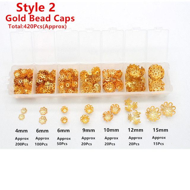 Gold bead caps