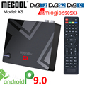 Mecool K5 Amlogic S905X3 Смарт Android 9,0 TV Box DVB-S2 DVB-T2 DVB-C 2 Гб оперативной памяти, 16 Гб встроенной памяти, 2,4G 5G Wi-Fi Bluetooth 4 к HD декодер каналов кабельного телеви...