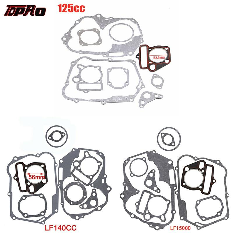 Комплект прокладок двигателя TDPRO 125cc 140cc 150cc Lifan, прокладка головки цилиндра двигателя для грязевого питбайка, мотоцикла, скутера, багги