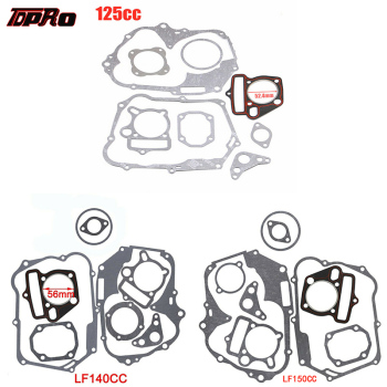 TDPRO 125cc 140cc 150cc Lifan Set Engine Gaskets Motor Cylinder Gasket Head Base For Dirt Pit Bike Motorcycle Scooter Quad Buggy for kubota engine parts v1505 full gasket set with cylinder head gasket 16394 03310 metal