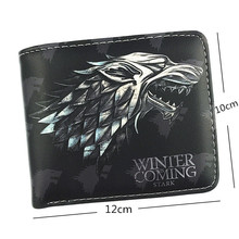 NEW Hot sale Game of Thrones Wallet House Stark/House Targaryen/House Lannister Nine Style Short Purse With Coin Pocket Wallets cool movies game of thrones wallets targaryen blood and fire dragon wallets for women men mini wallet and purse billeteras wolf