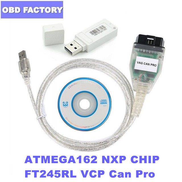 Vag Can Pro 5.5.1 Diagnostic Cable with Dongle VCP Scanner Vag Can Pro Can Bus UDS K line V5.5.1 FT245RL Diagnostic Interface