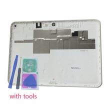 Gehäuse Zurück Abdeckung Für Samsung T530 T531 T535 Galaxy Tab 4 10,1 Original Tablet Telefon Neue Hinten Panel Batterie Tür deckel Mit Werkzeuge