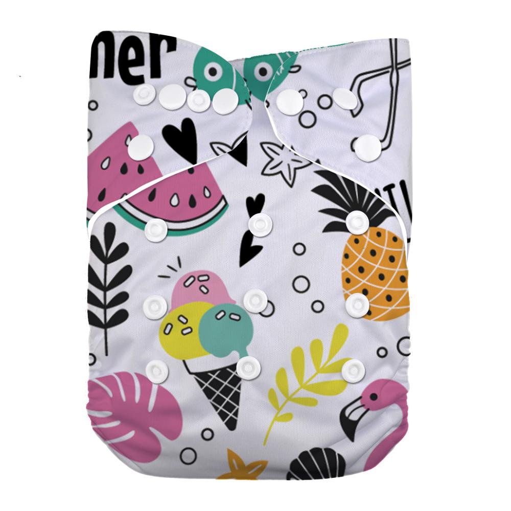 LilBit Baby Girl New Printed Reusable Washable Pocket Cloth Diaper