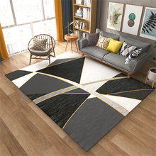 Large Rugs for Home Living Room Modern Luxury Soft Geometric Carpet Bedroom Parlor Decoration Rug Bathroom Anti-slip Big Carpets