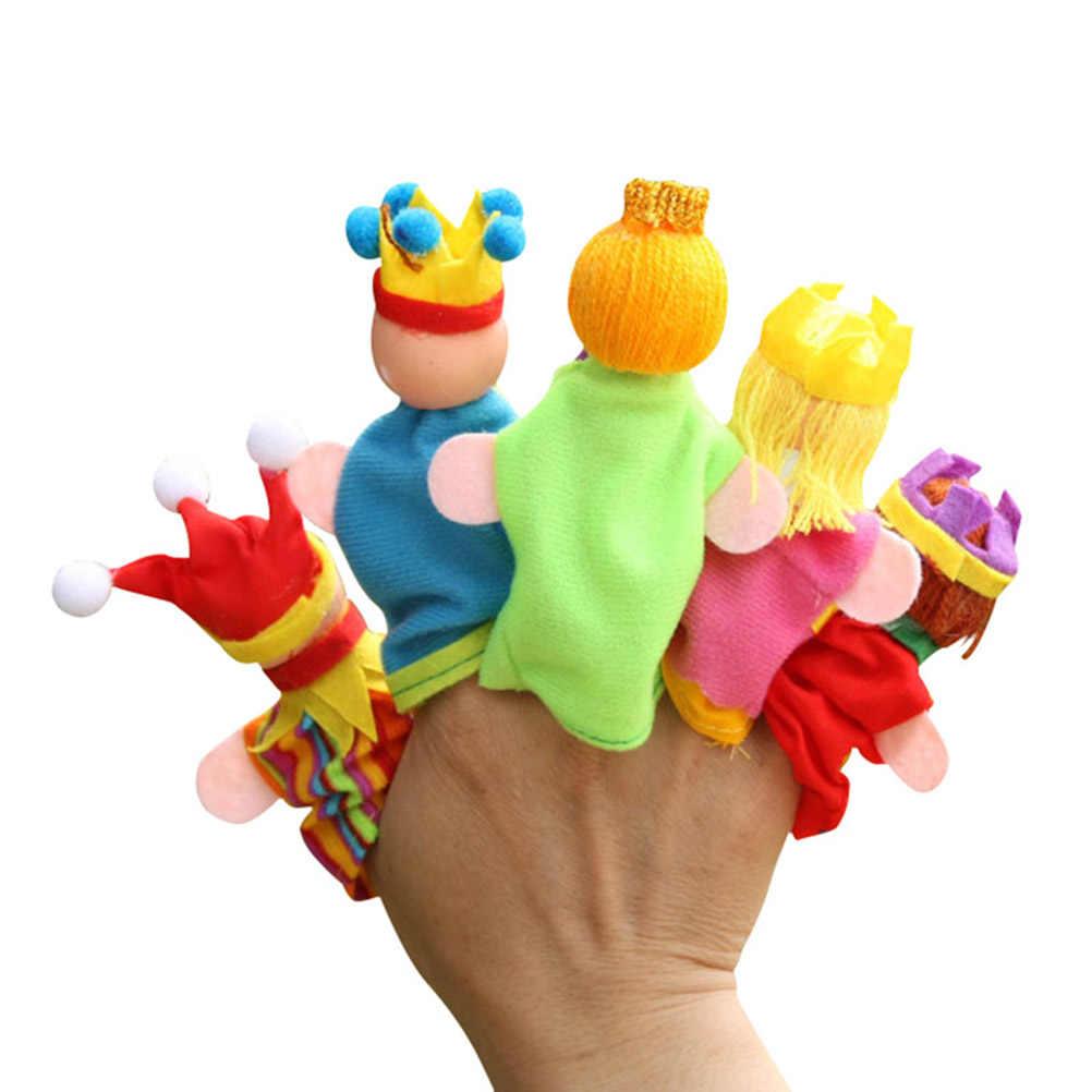 6 pçs/set Animal Dos Desenhos Animados Figura Brinquedos Fantoche de Dedo Crianças Fonte Do Partido Brinquedos Para Presentes Dos Miúdos Das Crianças de Pelúcia Brinquedos Educativos #50