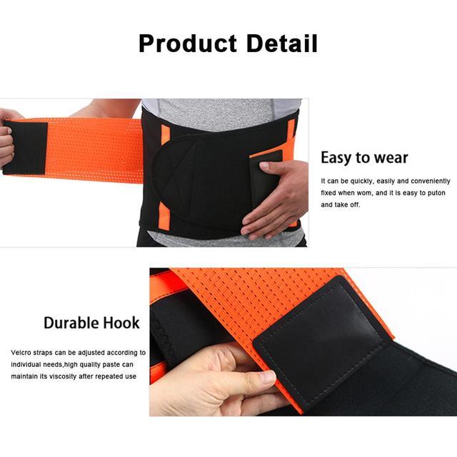 WeightLifting Waist Belt Guard Sports Equipment Belt Sweat Squat Strength Support Fitness Adjustable 1