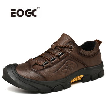 High Quality Genuine Leather Men Shoes Outdoor Lace Up Autumn Casual Shoes Sneakers Breathable Designer Flats Shoes Men 2018 men casual shoes brand men leather shoes sneakers men flats lace up genuine split leather shoes plus big size spring autumn