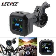 Monitoring-Alarm-System TPMS Lcd-Display Moto-Tire External-Sensors Pressure-Tyre-Temperature