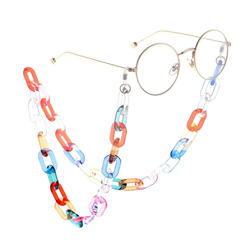 Transparent Color Print 70cm Glasses Chain Fashion