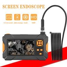 P30 8mm Inspektion Endoskop kamera HD1080P 4,3 zoll Bildschirm IP67 Wasserdicht Industrielle Endoskop Led leuchten 2600mAh Batterie