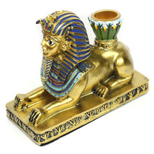 European-style Egyptian Fashion Creative Home Decoration Resin Candlestick Set Small Table Retro Decoration