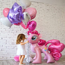 1PC 100*97CM Pink Horse Little Pony Unicorn Foil Balloons Helium Balloon Kids Toys Wedding Birthday Animal Party Decor Supplies(China)