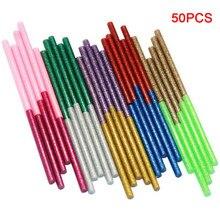 50 pçs cola varas adesivo mini escritório quente derretimento arte prático artesanato glitter cola varas aquecimento para ferramenta elétrica diy #734