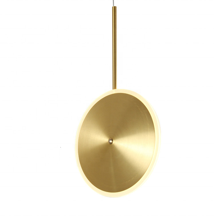 Higher Quality Creative Design Nordic Round Hanging Lamp Interior Brass Flying Saucer Pendant Light Fittings Hanging Lamp|Pendant Lights| |  - title=