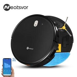 NEATSVOR X520 6000Pa Suction робот-пылесос, развертки чистую влажную уборку, приложение Map навигация, Автозарядка пол и ковер робот-уборщик