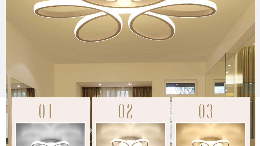 Hac990f4b2a264374bb944527769af4464 Living room ceiling lamp led dimmable for bedroom aluminum body indoor lighting fixture plafonnier led lights dining room