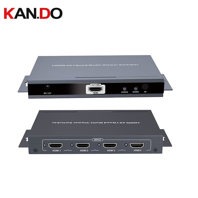 401MS 4x1 HDMI Quad Screen Multiviewer Switcher IR Control, Support Seamless Handove Hdmi POWER Splitter Divider