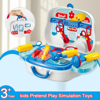 1 Set Pretend Play Girls Boys Toys For Children Kitchen Simulation Cooking Dressing Doctor Toy Suitcase Tools Kids Educational 1