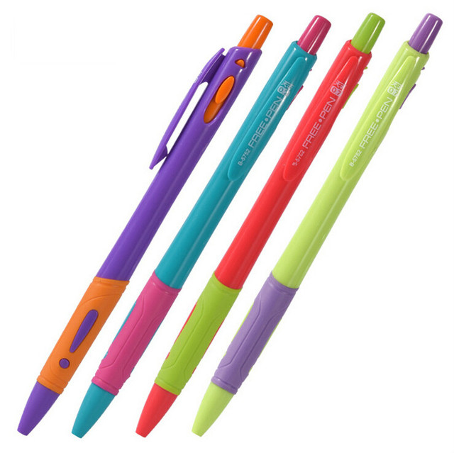 10 Pcs/lot Cute 0.7mm Ballpoint Pen Blue Ink Office Accessories Material Escolar Writing Supply Mark Ball Pen Stationery 1