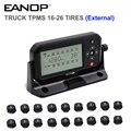 EANOP TPMS 16/26 колеса цифровой ЖК-дисплей система мониторинга давления в шинах внешняя бар/PSI Для автомобилей  автобусов  прицепов