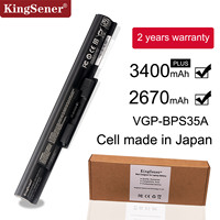 KingSener Japanese Cell VGP BPS35A Battery For SONY Vaio Fit 14E 15E SVF1521A2E SVF15217SC SVF14215SC SVF15218SC BPS35 BPS35A