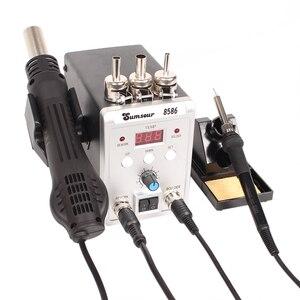 Image 3 - SMD עיבוד חוזר הלחמה תחנת 8586 700W 2 ב 1 תצוגה דיגיטלית אוויר חם אקדח הלחמה ברזל 220V / 110V ESD ריתוך תיקון כלים