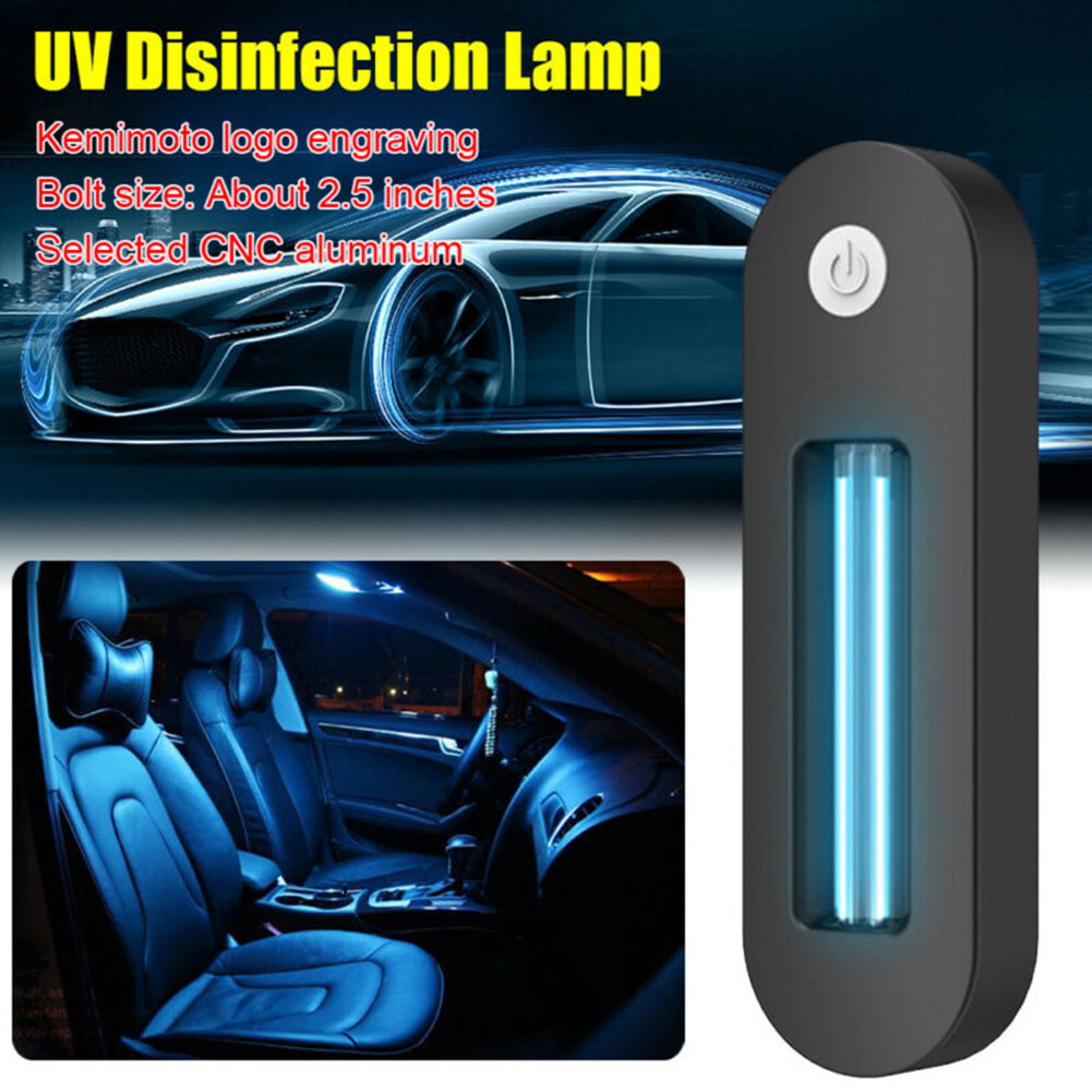 Mini UV Lamp Portable Home Vehicle Car Interior Germicidal Light USB Charging High Light Transmittance
