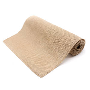 Table Runner Decor Country Rustic Hessian Natural-Jute Vintage Modern Home DIY Party