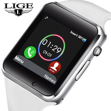 2019 LIG New Smart Watch Men Women Sport Pedometer OLED Color Screen Connection Mobile Phone Synchronization Support TF SIM Card(China)
