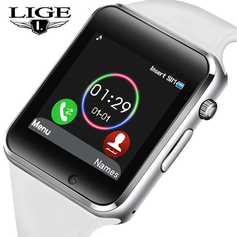 2019 LIG חדש חכם שעון גברים נשים ספורט מד צעדים OLED צבע מסך חיבור טלפון נייד סנכרון תמיכה TF כרטיס ה-SIM