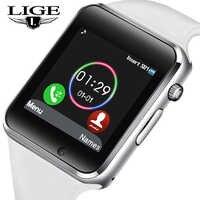 2019 LIG nuevo reloj inteligente para hombres y mujeres, podómetro deportivo OLED, conexión de pantalla a Color, soporte de sincronización de teléfono móvil, Tarjeta SIM TF