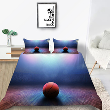 Basketball Bedding Set Colored Lights 3D Fashionab