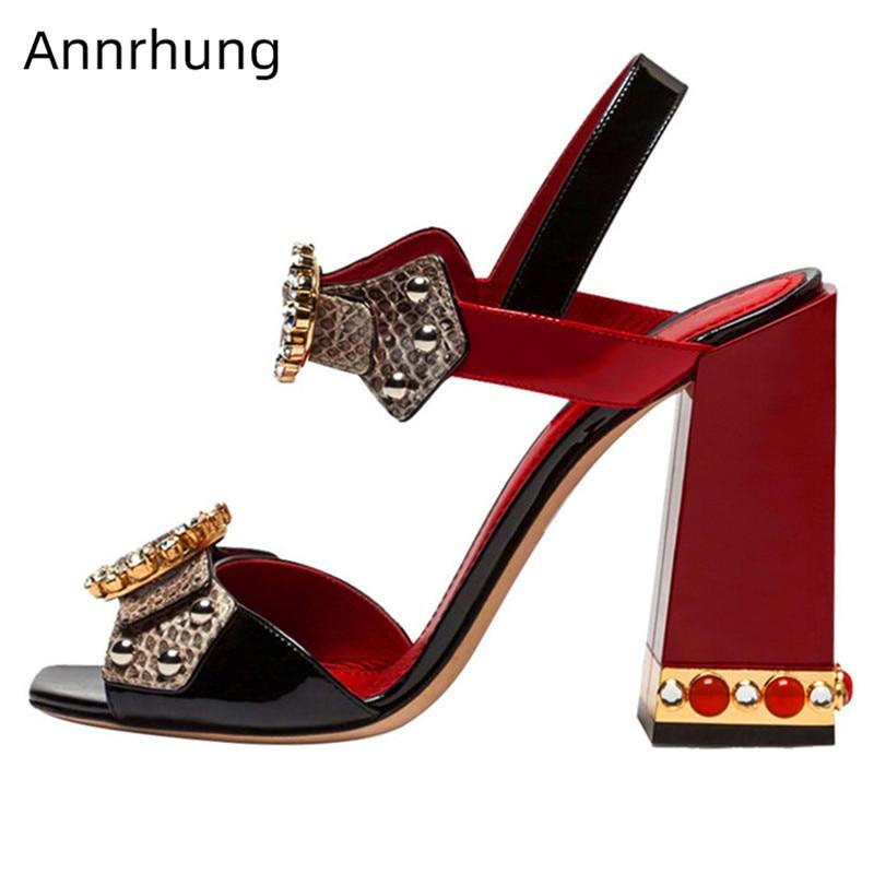 Sandalias De lujo De cristal De serpentina para Mujer con correa en el tobillo con diamantes De imitación-in Sandalias de mujer from zapatos    1